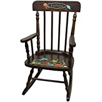 Personalized Espresso Sealife Rocking Chair