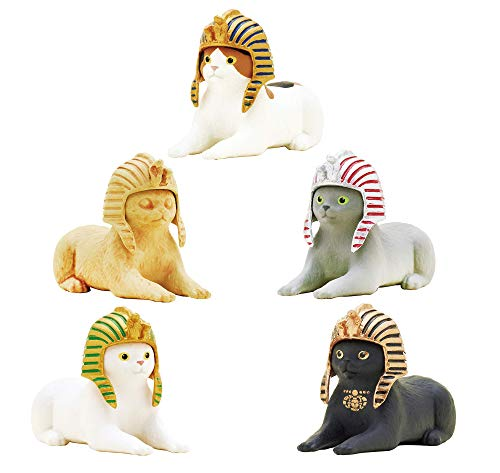 Kitan Club Cat Pharaoh Figure Blind Box Includes 1 of 5 Collectible Figurines - Fun, Versatile Decoration - Authentic Japanese - Blind Box
