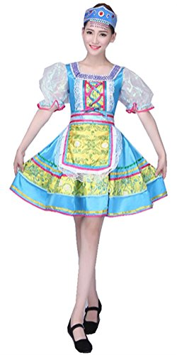 Russian Costumes For Dance - Women Performance Wear Dresses, Women's Russian Deluxe Party Dancing Dress (S)