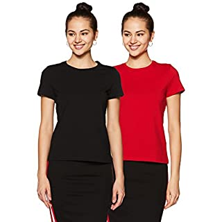 41qmhHyYvFL. SS320 Amazon Brand - Symbol Women's Regular Fit T-Shirt