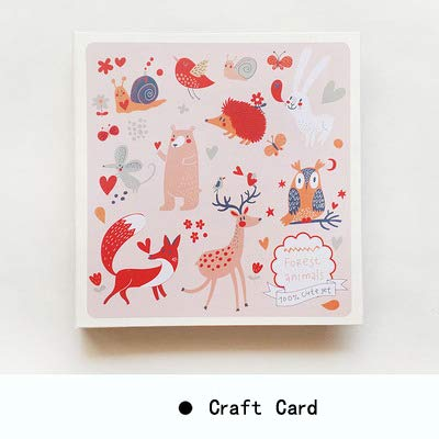 X-CRAFT Handmade Baby Book Square Printed Cover Creative Gift Handmade Self-Adhesive Film Large Capacity Baby Personalized Wedding Book by X-CRAFT