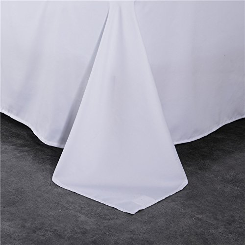 Tumei Hotel Luxury Flat Sheet - 1500 Thread Count Egyptian Quality Ultra Silky Soft - Brushed 1800 series Microfiber -Hypoallergenic -Twin Size White