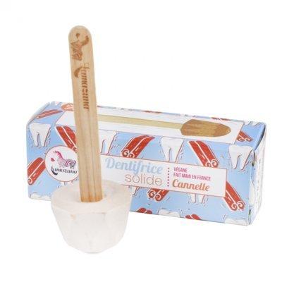 LAMAZUNA - Feste Zahnpasta mit Zimt - Für natürlich saubere Zähne - Praktisch in der Anwendung - Besonders ergiebig - - Vegan - 17g Yumi Bio Shop