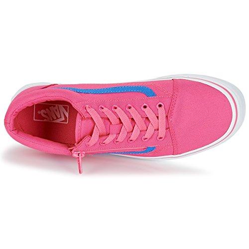 35 Pink Skool Schuh blue Old Canvas 2017 Zip Vans Neon BxpqwAA