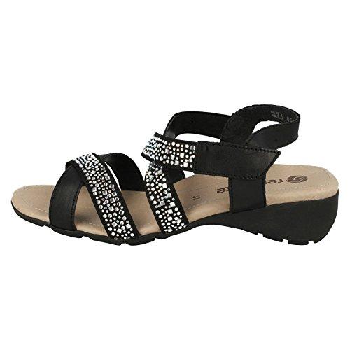 Remonte - Zapatos con correa de tobillo mujer negro