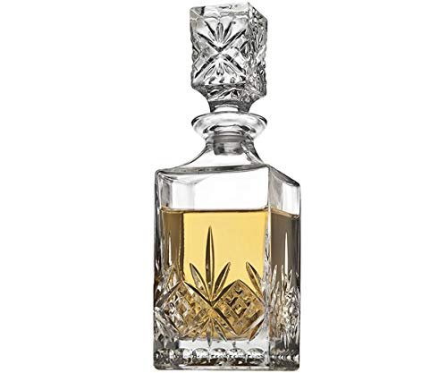 Godinger Mini Whiskey Decanter for Liquor Whisky Vodka or Wine - 10oz, Dublin Collection