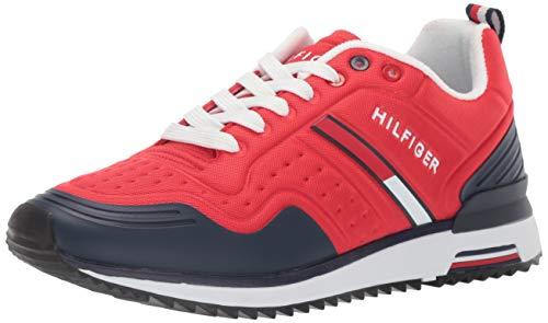 Tommy Hilfiger Men's Vion Sneaker, Dark red, 10.5 M US