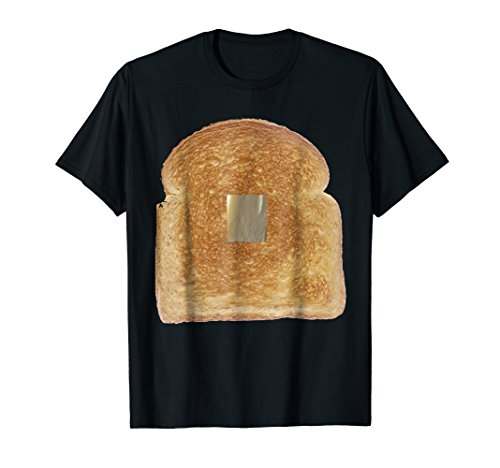 Mens Toast with Butter Costume Funny Gag Gift T-Shirt XL Black