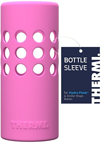 Thermi Protective Silicone Sleeve for Hydro Flask Water Bottles (Multiple Sizes & Colors) (Classic Pink, -