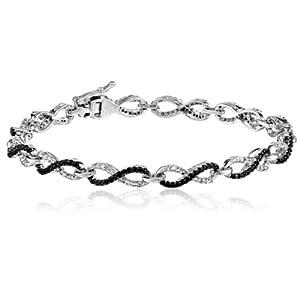 10K White Gold Diamond Infinity Bracelet (1 1/2 cttw), 7.25