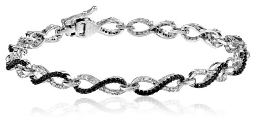10K White Gold Diamond Infinity Bracelet (1 1/2 cttw), 7.25