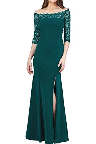 Etuikleider Blau Braut Brautmutterkleider La Marie Spitze Langarm Dunkel Festlichkleider mit Elegant Gruen Jaeger Damen wSqHCP1UH6