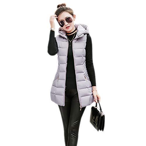 Donna Donna Donna BOZEVON Stile Stile Stile Autunno 05 Cappuccio Colore Giubbotto Solido Gilet con Inverno Outwear a4dwq4S