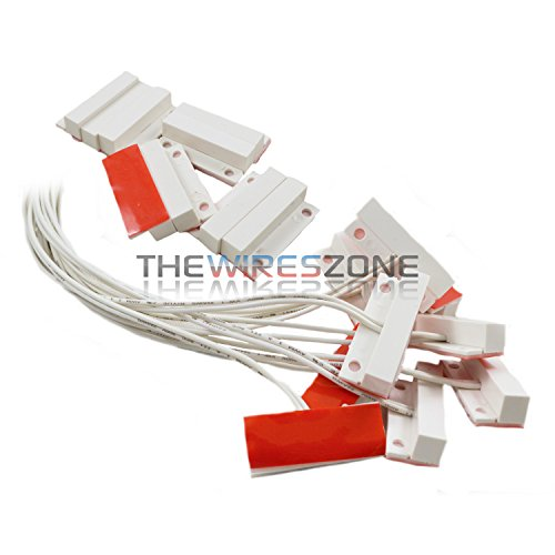 10 Pack White Door Window Security Alarm Contact Surface Reed Home Switch Sensor