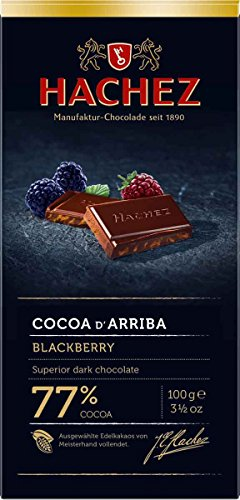 Hachez Cocoa D' Arriba Chocolate Bar, Blackberry, 3.5 Ounce