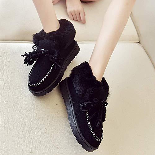 2 Impermeables Tamaño color Zapatos Hhgold Y Más 39eu Con Para De Mujeres Algodón Nevados 6 Antideslizante ZpUwq4TU
