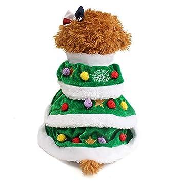 MENGZHEN 1 Pieza Mascota árbol de Navidad Ropa de Invierno cálido ...