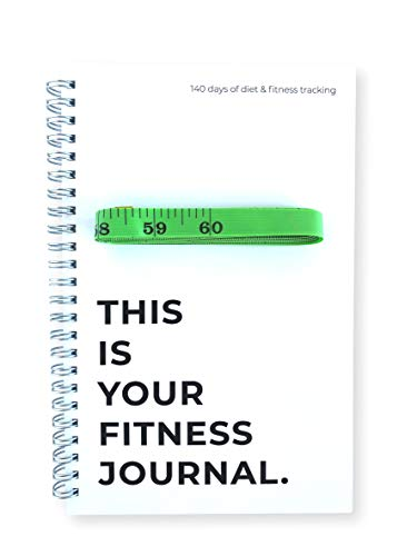 Portage Your Fitness Journal. 20 Weeks (140 Days) of Diet and Fitness Tracking Includes 60 Body Measuring Tape | Goal Setting & Body Measurement Tracking| Sturdy 5x 8 Cover and Thick Paper