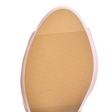 LvYuan Mujer Sandalias Confort Tira en el Tobillo Suelas con luz Cuero real Verano Casual Vestido Confort Tira en el Tobillo Suelas con luz beige