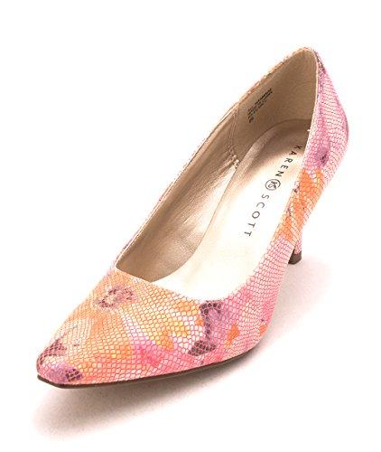 Clancy Scott Karen Daim floral Simili Talons Pink zgyq5