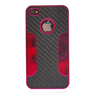 LZX Special Design Weave Pattern Protective Case for iPhone 4/4S (Assorted Colors) , Purple