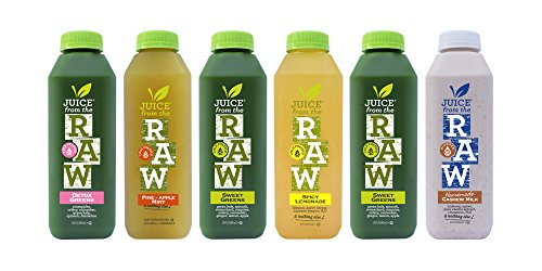 Juice from the RAW 3 Day Believer Juice Cleanse with cashew milk 18 Bottles