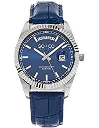 Mens 5041.2 Madison Quartz Day and Date Blue Leather Band Watch
