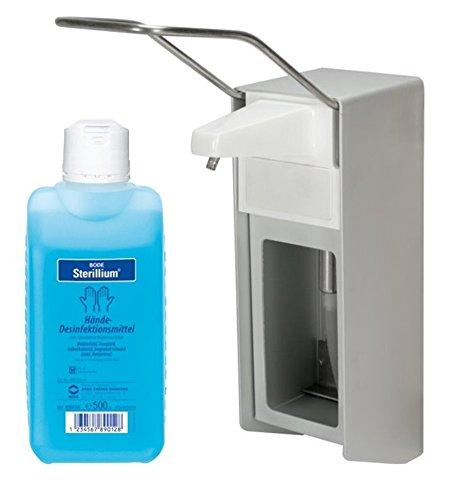 4x Dispensador de Pared Aluminio Cepillado 500 ml de + 4x STERILLIUM 500 ml: Amazon.es: Salud y cuidado personal