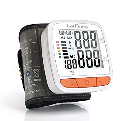 "Wrist Blood Pressure Monitor, 180 Reading Memory, 2 Users, BP Cuff (5-8""), Digital BP Monitor with Large LCD Display, Automatic Blood Pressure Machine, Accurate & Fast Reading"