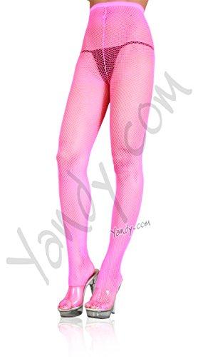 Hot Pink Fishnet Stockings (Leg Avenue Women's Nylon Fishnet Tights, Neon Pink, One)
