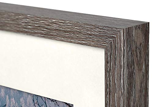 Frametory, Frame with Ivory Mat for Photo - Smooth Wood Grain Finish - Sawtooth Hangers, Real Glass - Landscape/Portrait, Wall Display (Grey, 11x14 Frame for 8x10 Photo) - BRAND NEW: Frame with Ivory Mat FIT FOR: Pictures/Photos (with Mat) or Photos/Pictures (without Mat) PACKAGE INCLUDES: Design Frame, Ivory Mat for Picture - picture-frames, bedroom-decor, bedroom - 41qmnSBEEOL -