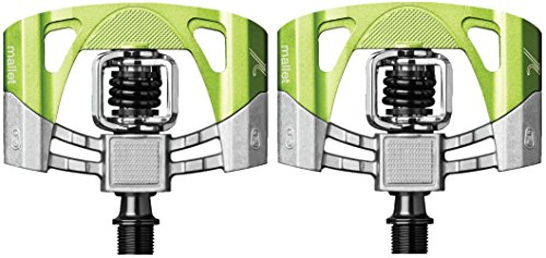 CRANKBROTHERs Crank Brothers Mallet 2 Pedals, Raw/Green