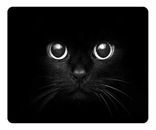 - Personalized Unique Design Oblong Shaped Mouse Pad Black Cat