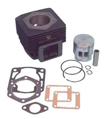 Top end Overhaul kit. Includes Cylinder, 2-Port Piston & Rings, Wrist pin, snap Rings and gaskets. for E-Z-GO Gas (2 Cycle) 1989-93. USA, Except Alaska & Hawaii!