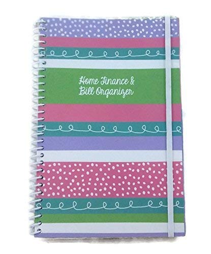 Home Finance amp Bill Organizer with Pockets Decorated Stripes