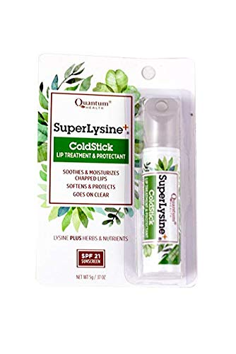 (Quantum Health, Super Lysine+, ColdStick, Lip Treatment & Protectant, SPF 21, 6 Pack (.17 oz (5 g)))