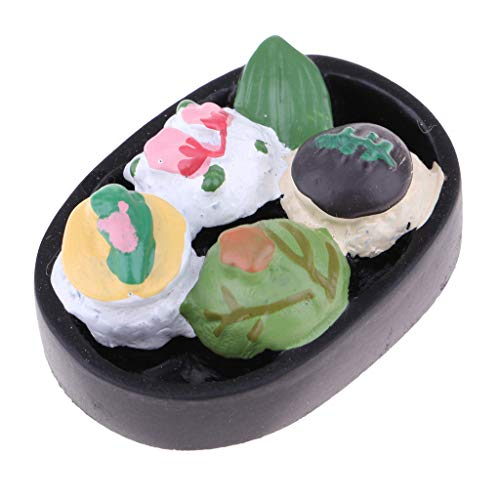 Brosco 1:12 Scale Dollhouse Miniature Onigiri Model Doll Food Kitchen Accessory Toy ()