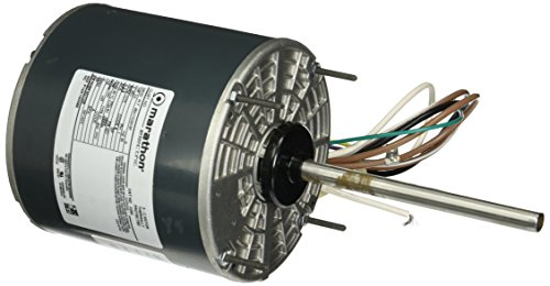 Marathon X099 48Y Frame Condenser Fan/Heat Pump Motor, Single Phase PSC, Thru-Bolt Mount, Open Air Over Shaft Up/Horizontal, Ball Bearing, Shaft Dimension 1/2