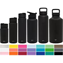 Simple Modern Summit Water Bottle + Extra Lid - Vacuum Insulated 18/8 Stainless Steel Powder Coated - 6 Sizes, 22 Colors