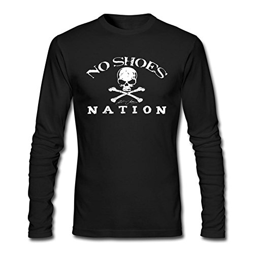 [LSLEEVE Men's Country Music Singer Kenny Chesney Long Sleeve T-shirt Black L] (Kenny Chesney T-shirt)