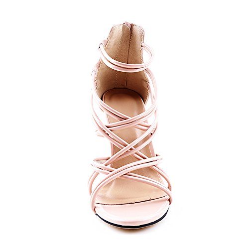 Sexy apricot Ankle Women's JESSI Cross High Strappy MAIERNISI Heel Zip Stilettos Sandals 1wO6xqYY