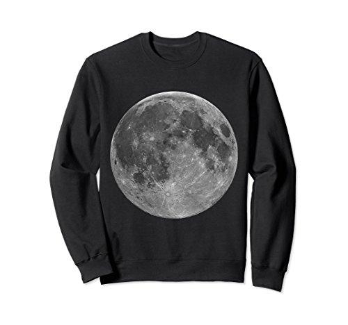 Unisex Full Moon Crewneck Sweatshirt Medium ()