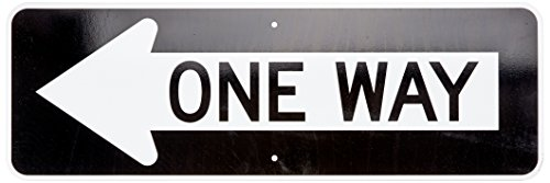 One Way MUTCD Sign With Left Arrow By SmartSign   12 x 36 3M Engineer Grade Reflective Aluminum