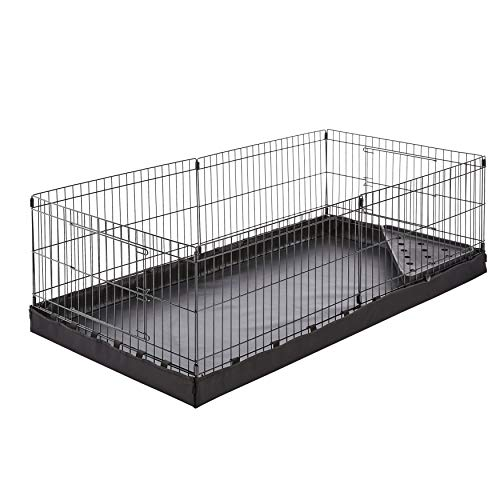 AmazonBasics Canvas Bottom Habitat Pet Cage - 47 x 14 x 24 Inches, - Wire Panel Fence