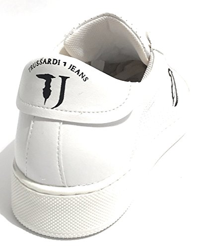 Trussardi Jeans Sneakers Trussardi - Smile Mirror Leather - 77A000219 bianco - W001
