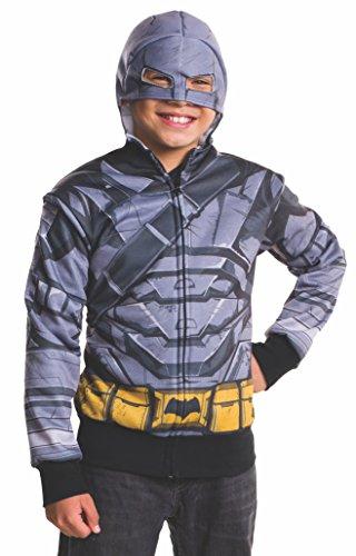 [Rubie's Costume Batman v Superman: Dawn of Justice Armored Batman Child Hoodie, Large] (Aquaman Halloween Costumes)