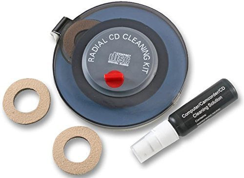 Radial CD and DVD Disc Cleaning Kit Safely Cleans Discs Fully by Halloa