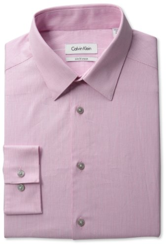 Calvin Klein Men's Long Sleeve Slim Fit Point Shirt