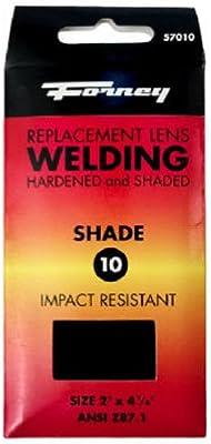 Cristal endurecido de repuesto para lente Forney, 10,16 cm por 5,08 cm, 57010