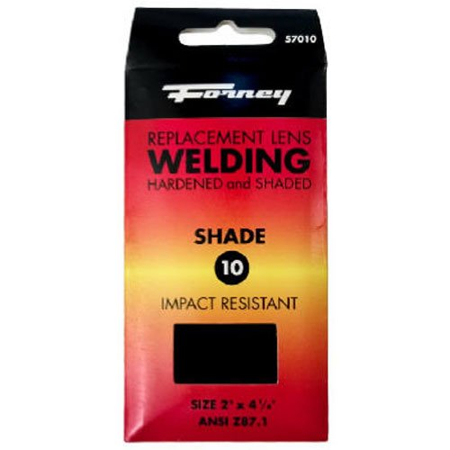 Forney 57010 Lens Replacement Hardened Glass, 4-1/4-Inch-by-2-Inch, Shade-10